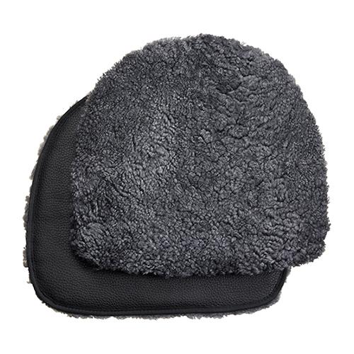 Buzz vadderad fårskinnsdyna charcoal