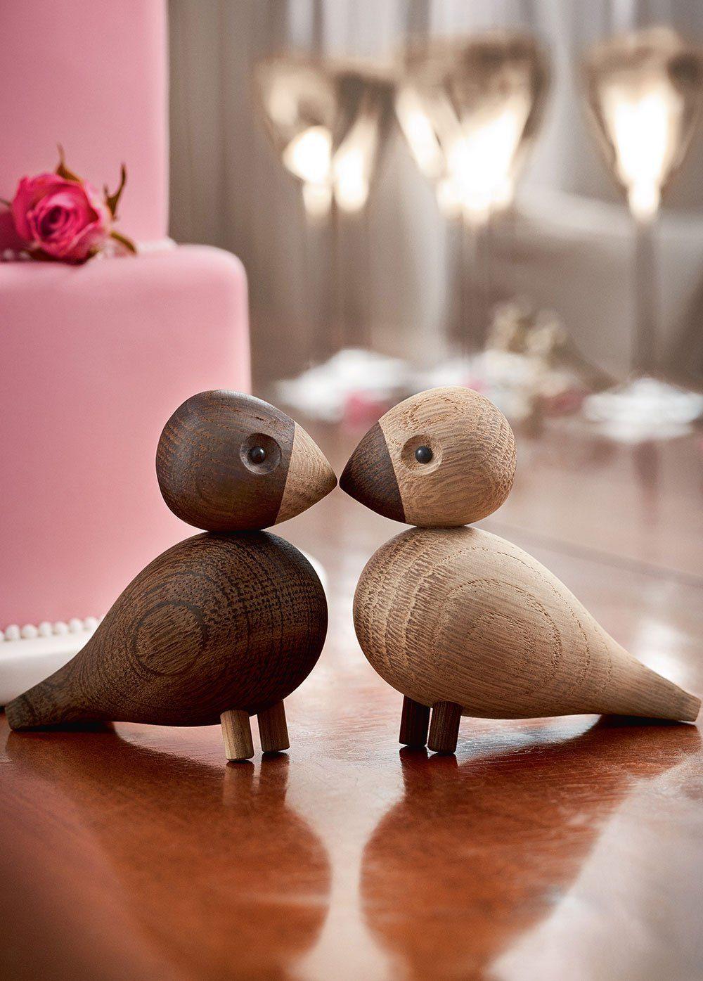 Lovebirds Träfigur-22982