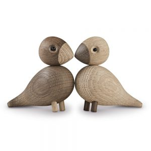 Lovebirds Träfigur-0