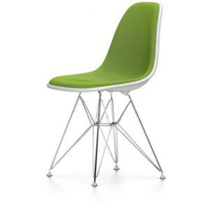 DSR Eames Plastic Sidechair framsidesklädd, Vitra-0