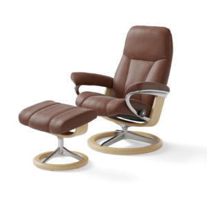 Stressless Consul M fåtölj Signature base