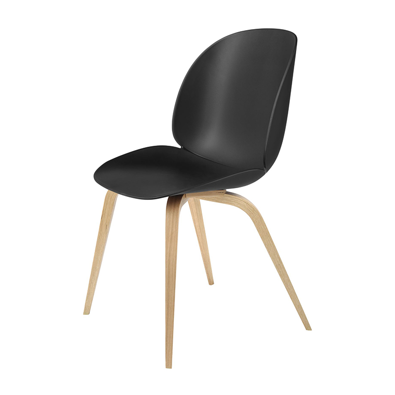 Beetle dining chair wooden base Gubi