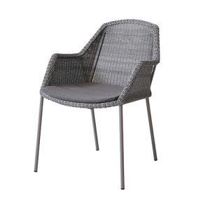 Breeze stol med ben ljusgrå