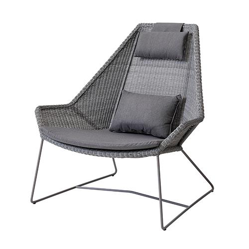 Breeze High-back stol ljusgrå