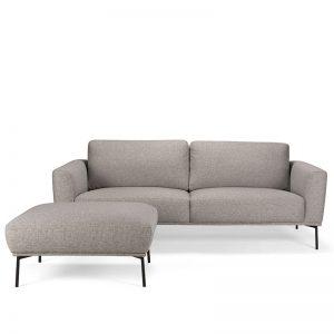 Hailey soffa och fotpall