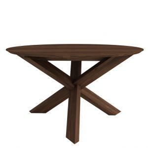 Circle matbord valnöt 136cm