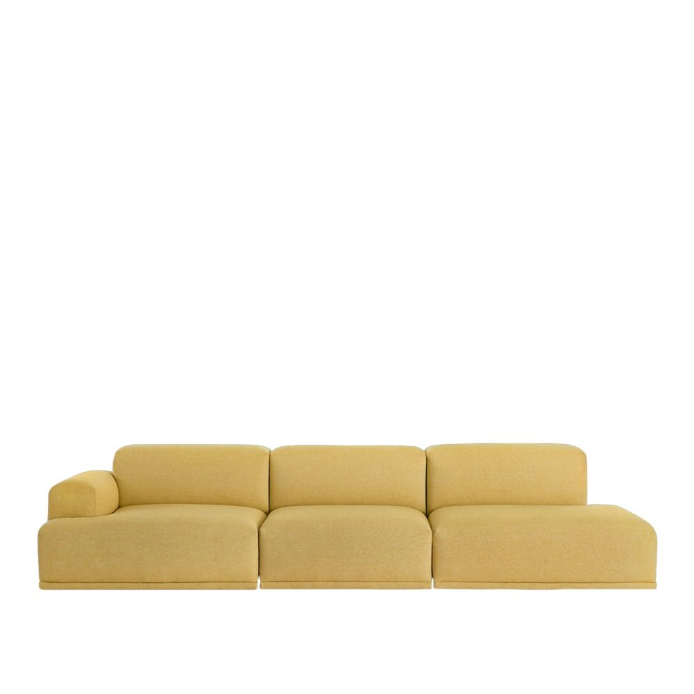 Connect 3-sits soffa med ett armstöd