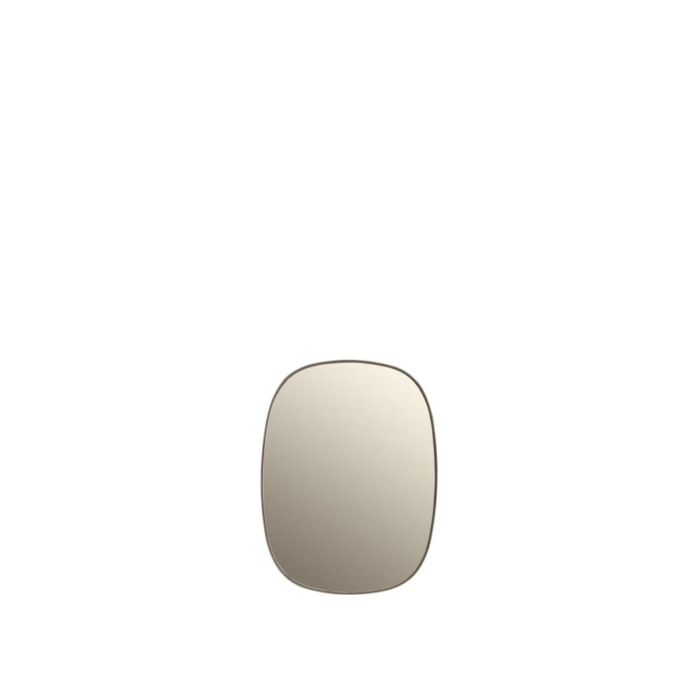 Framed spegel small taupe