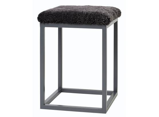 Palle fårskinnspall dark grey/grå