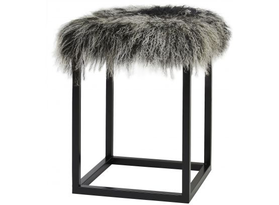 Palle fårskinnspall snowtop/svart