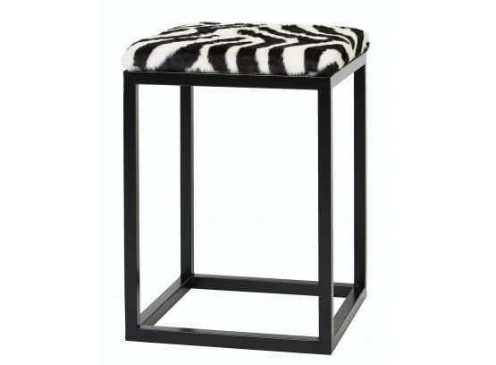 Palle fårskinnspall zebra/svart