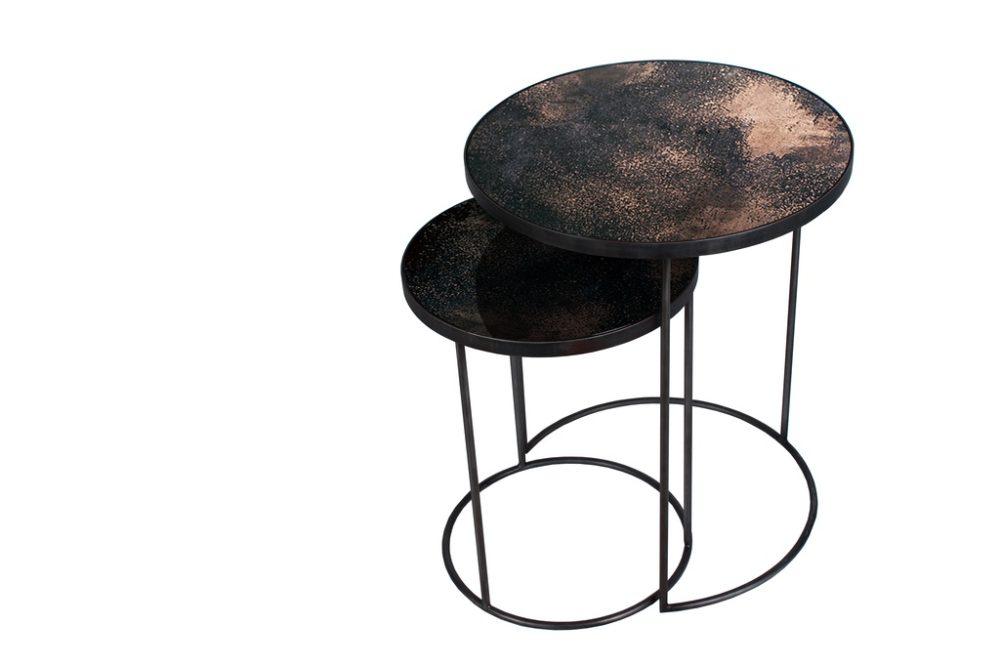 Nesting side table sidobord bronze