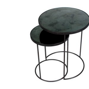 Nesting side table sidobord charcoal