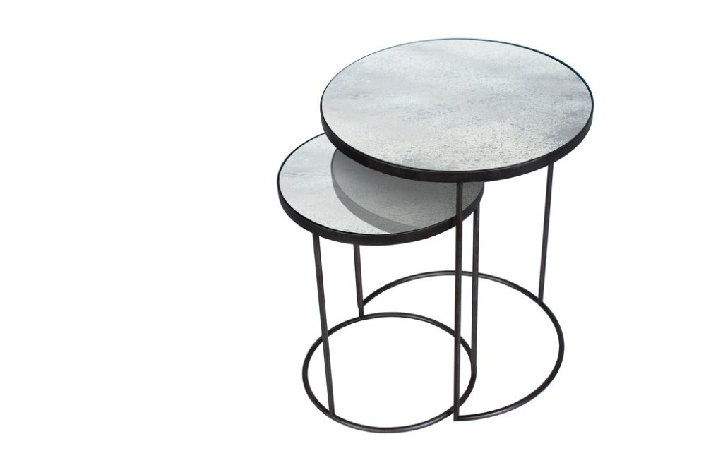 Nesting side table sidobord clear