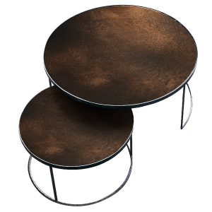 Nesting table soffbord bronze