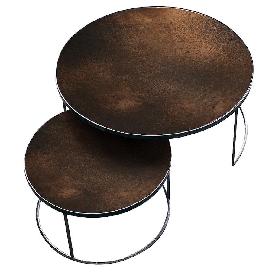 Nesting table soffbord bronze