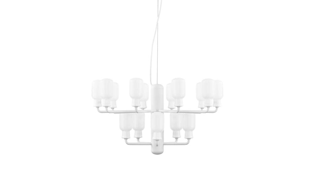 AMp ljuskrona small white