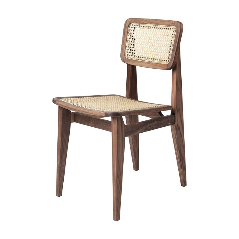 C-Chair stol valnöt rotting