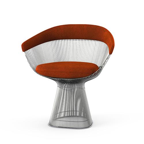 Platner Side Chair knoll nickel