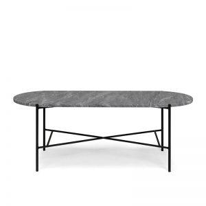 Bistro soffbord grå marmor
