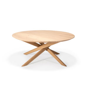 Oak Mikado round coffee table