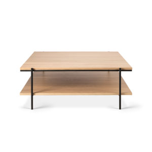 Rise coffee table square oak